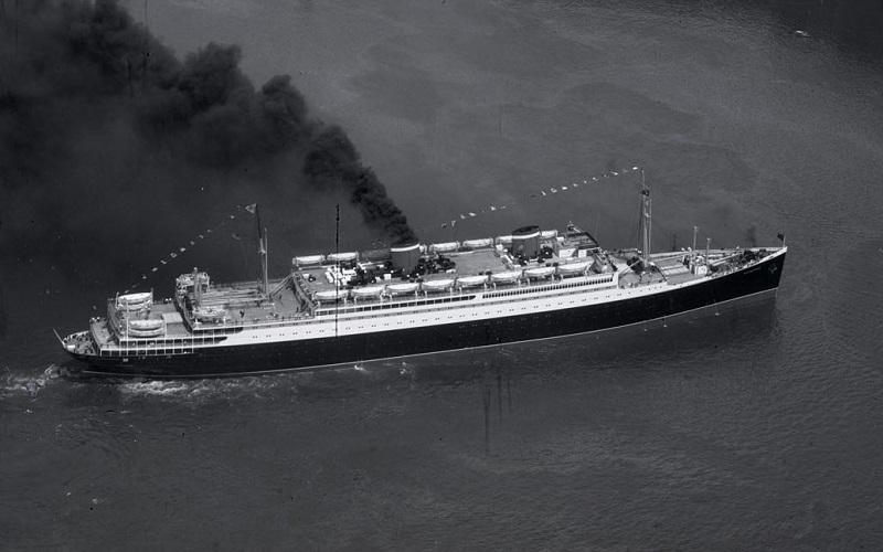 Skibet der bragte Mærsk og hans hustru til USA