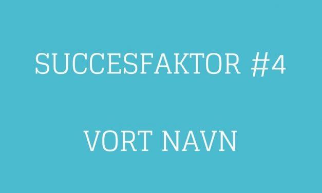 Succesfaktor #4 Vort navn