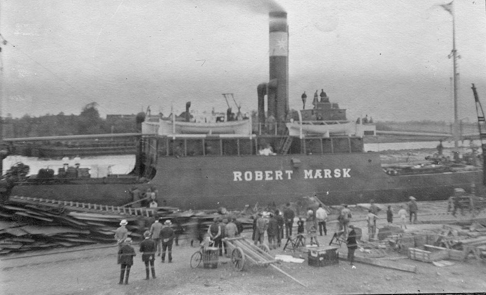 Det første skib fra Odense Staalskibsværft